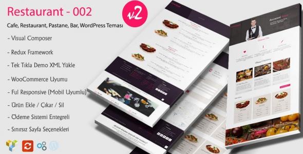 Pink WordPress Responsive Restaurant Teması