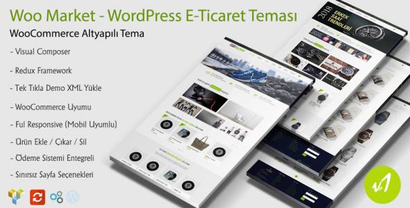 WooMarket WordPress E-Ticaret Teması