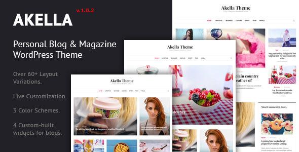 Akella - Kişisel Blog ve Dergi WordPress Tema