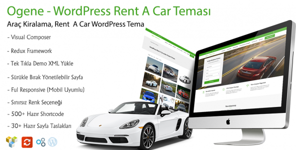 Ogene WordPress Rent A Car Teması
