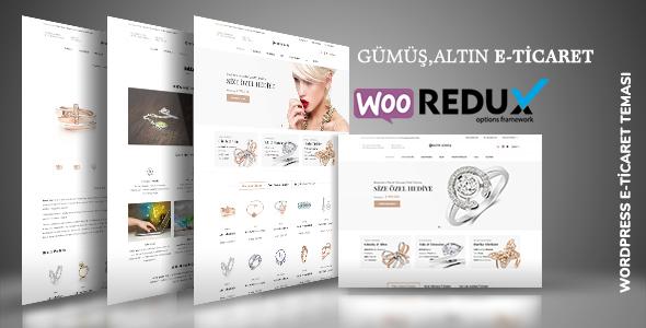 Motif Gümüş - Takı Shop E-Ticaret WordPress Teması