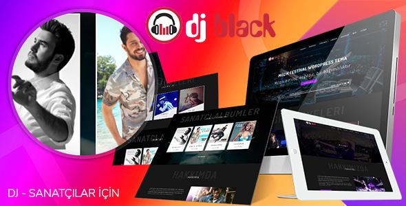 Black DJ - Sanatçı, Müzisyen WordPress Teması