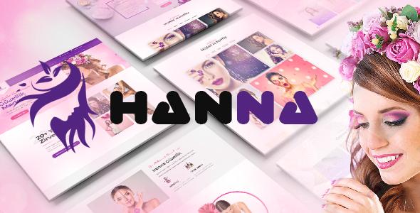 Hanna - WordPress Güzellik Salonu Teması