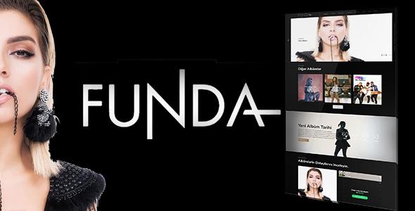 Sanatçı, Müzik Web Sitesi Teması by Funda