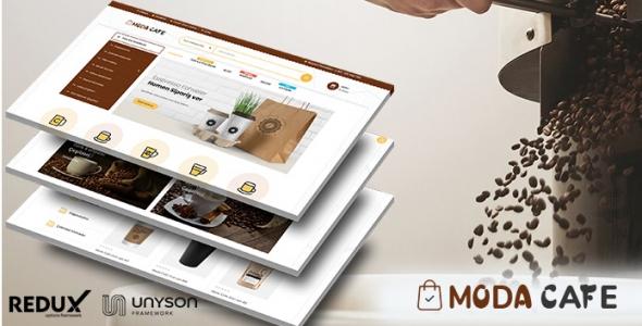 Moda Cafe - Cafe Ürünleri Tanıtım & Satış Teması