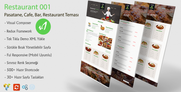 Green Wordpress Restaurant Teması