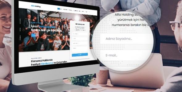 Alfa - WordPress Kurumsal Holding, Firma Teması