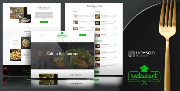 Sultan - WordPress Responsive Restaurant Tema
