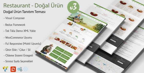 Organik WordPress Restaurant Teması