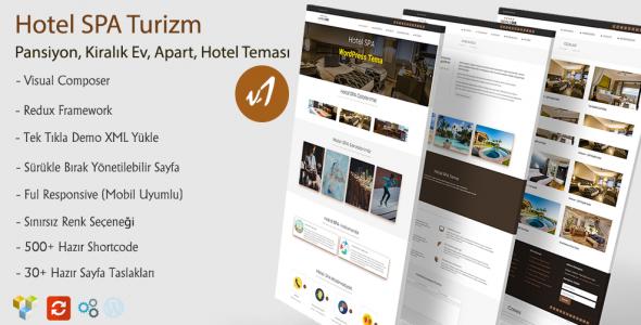 Hotel SPA WordPress Hotel Teması