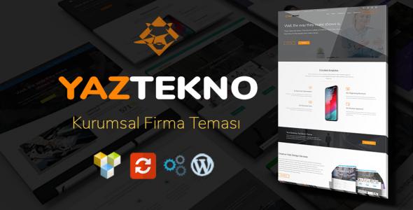 YazTek01 WordPress Kurumsal Firma Teması