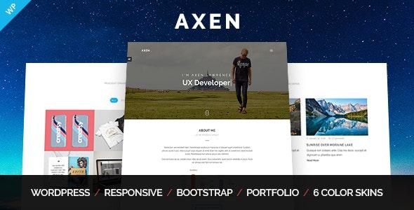 Axen - Kişisel Portföy WordPress Tema