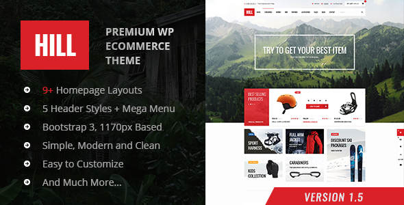 Hill - Responsive WordPres WooCommerce Tema