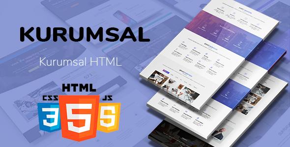 Kurumsal - Mavi HTML & CSS Template