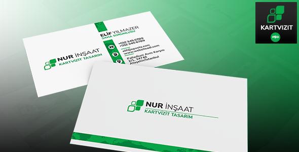 Kurumsal Kart - Firma Kartvizit Tasarımı PSD