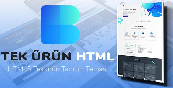 Tek Ürün - HTML Tek Ürün Teması