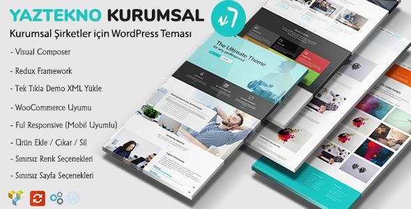 YazTek07 - WordPress Kurumsal Firma Teması