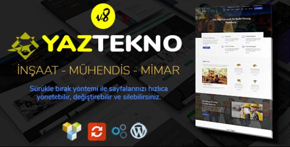 YazTek08 - Mühendis,Mimar,inşaat WordPress Tema