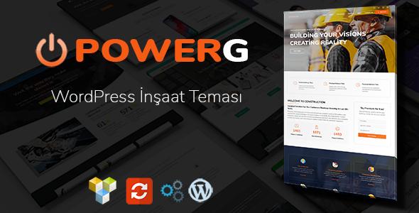 PowerG - WordPress İnşaat Teması