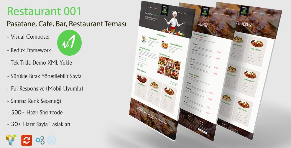 Green Wordpress Restaurant Teması