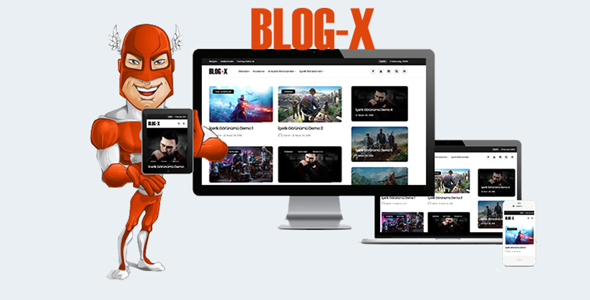 Blog-X - Wordpress Blog, Magazin Teması