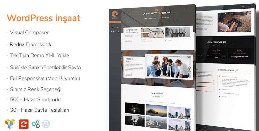 Turka İnşaat - WordPress İnşaat Teması