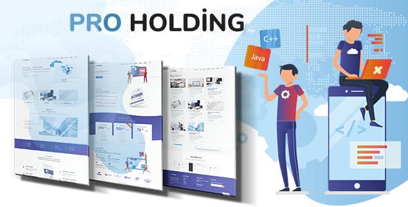 Holding - Ajans, Kurumsal Şirketler için Tema