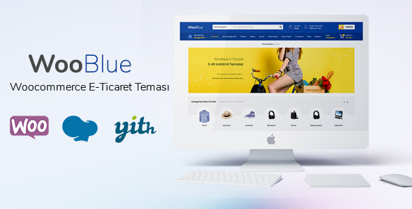 Woo Blue - WordPress WooCommerce E-Ticaret Teması